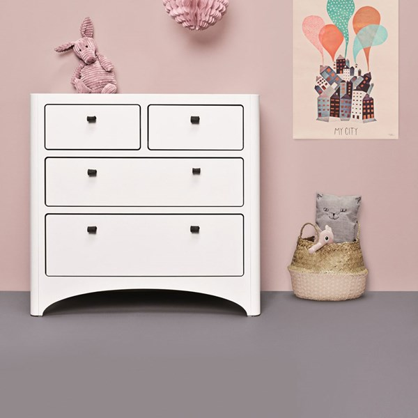 Leander White Chest of Drawers