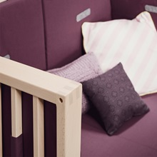 Leander-Linea-Cot-Bed-in-Beech-Wood-with-Purple-Covers.jpg