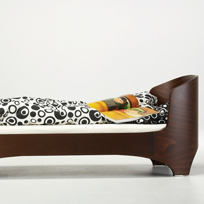 LEANDER Junior Bed & Mattress in Walnut
