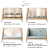 4 Stages of Cot Bed to Sofa Transformation
