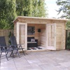 Delamere Log Cabin with Storage Shed
