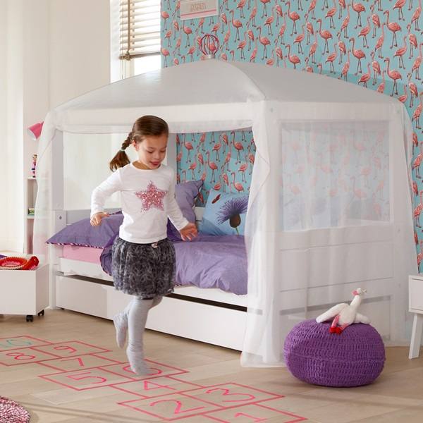Lifetime 4 In 1 Combination Bed With Optional White Canopy