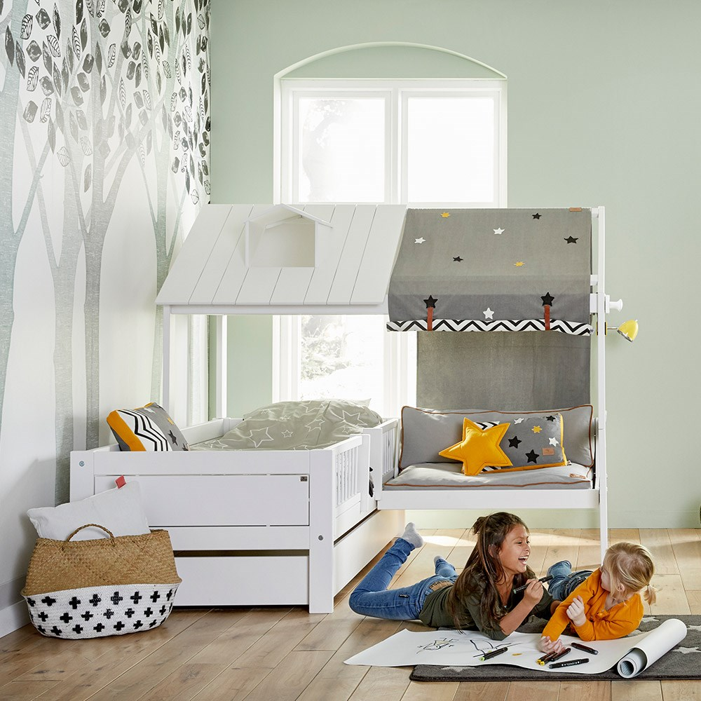 Fantastic Lifetime Kids Corner Beach House Bed With Bench Home Remodeling Inspirations Cosmcuboardxyz