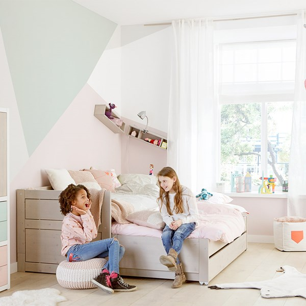 Kids Daybed with Trundle Bed and Drawer