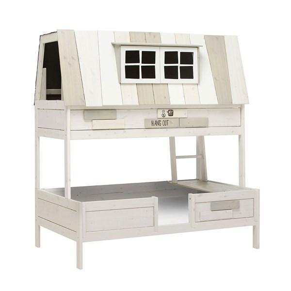 Lifetime Whitewash Bed.Lifetime Adventure Hangout Double Bed