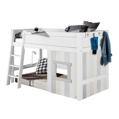 KIDS CABIN BED with Slanted Ladder