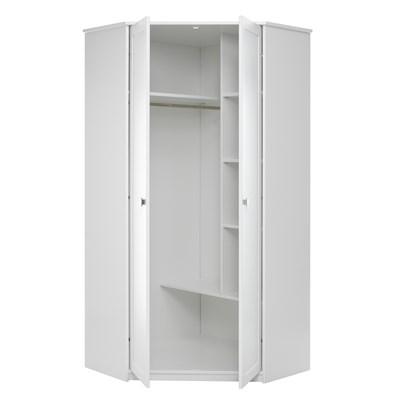 kids corner wardrobe in white with storage lifetime cuckooland rh cuckooland com white wardrobe with shelf white triple wardrobe with shelves