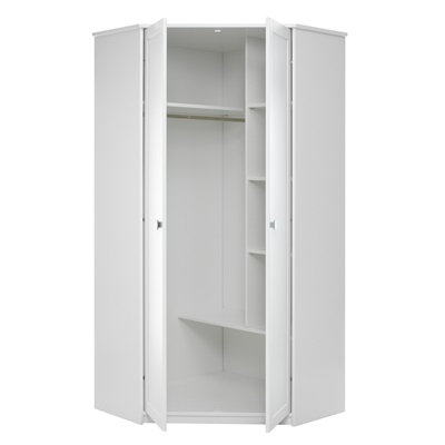 Kids Corner Wardrobe In White With Storage Lifetime