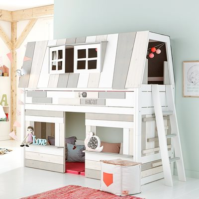LIFETIME KIDS HANGOUT MID SLEEPER BED with Play Area