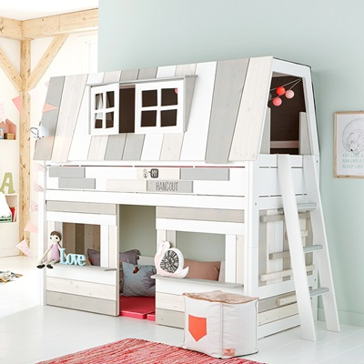 Hangout Mid Sleeper Bed + Play Area - Lifetime Furniture ...