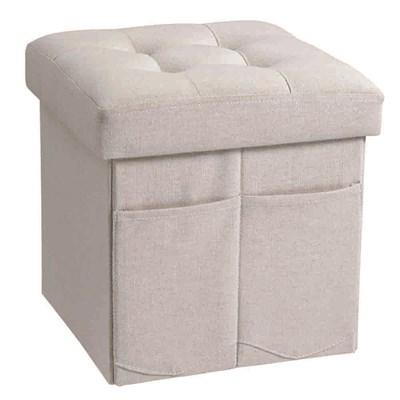 Light-Grey-Button-Kids-Foot-Stool-Storage-Box.  sc 1 st  Cuckooland & Star Storage Box And Foot Stool In Grey - Kids Chairs \u0026 Sofas   Cuckoo islam-shia.org