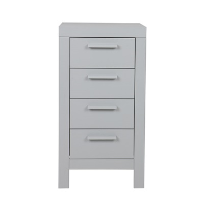 Dennis Narrow Chest of Drawers in Concrete Grey by Woood