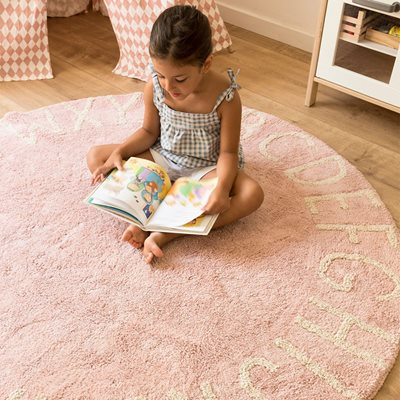 LORENA CANALS ABC KIDS WASHABLE ROUND RUG in Vintage Nude