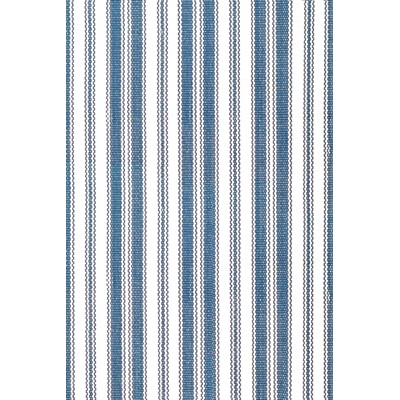 INDOOR OUTDOOR LIGHTHOUSE RUG in Denim & White