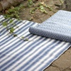 Reversible Blue & White Striped Outdoor Rug