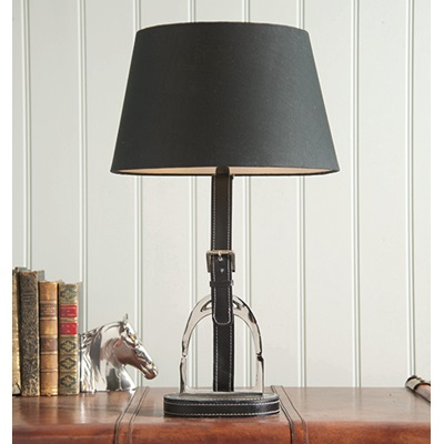 STIRRUP TRADITIONAL LAMP with Black Leather