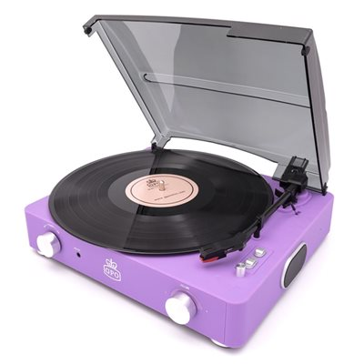 GPO Stylo II Record Player in Lilac