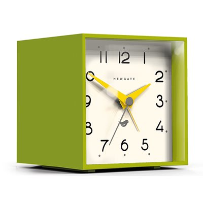 NEWGATE CUBIC Alarm Clock in Lime Green