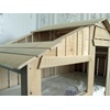 Roof Section of the Mathy By Bols Kids Treehouse Bedroom Bunkbed in Natural Lime Wood.