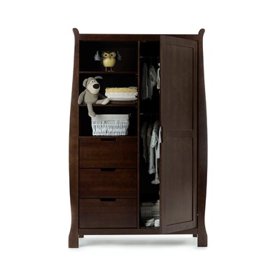 OBABY STAMFORD DOUBLE WARDROBE in Walnut