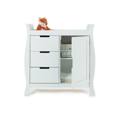 STAMFORD DRESSER & BABY CHANGING UNIT in White
