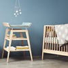 Leander Bedroom Wooden Cotbed and Changing Table