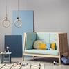 Linea Misty Blue Sofa in Oak