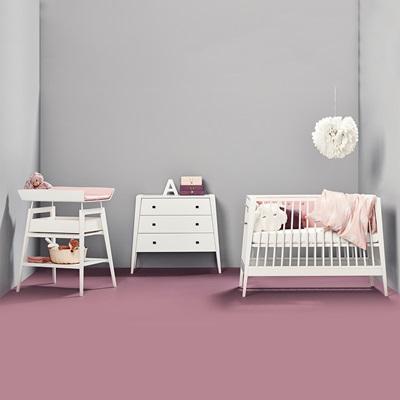LINEA NURSERY & BABY'S 3 PIECE FURNITURE SET in White
