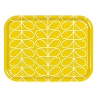 Orla Kiely Small Tray in Yellow Linear Stem Print