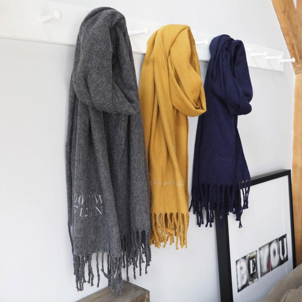 personalised coordinates lambswool scarf lisa angel cuckooland