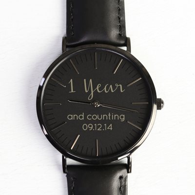 PERSONALISED 1 YEAR AND COUNTING WATCH by Lisa Angel