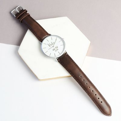 PERSONALISED HUBS WATCH in Rose Gold by Lisa Angel