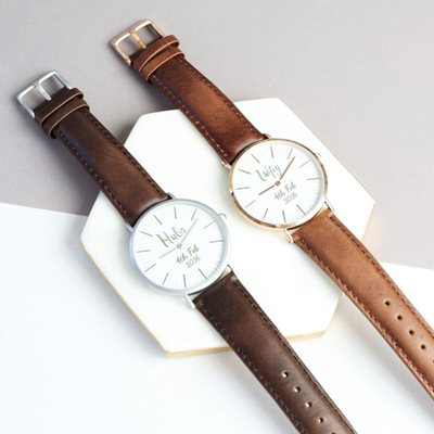 PERSONALISED WIFEY WATCH in Rose Gold by Lisa Angel