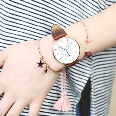 PERSONALISED BUTTERFLY WATCH in Rose Gold by Lisa Angel