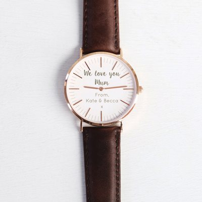 PERSONALISED WE LOVE YOU MUM WATCH by Lisa Angel