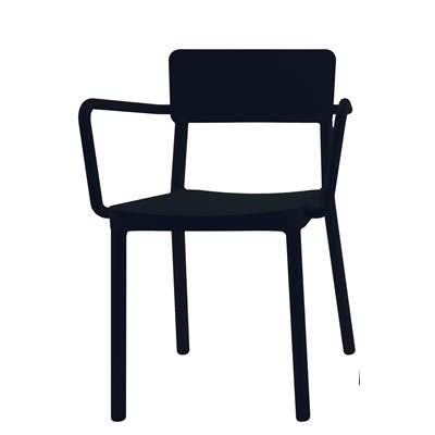 LISBOA RESIN ARMCHAIR in Black