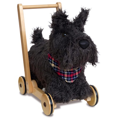 Little Bird Told Me Scottie Dog Push Along Kids Toy
