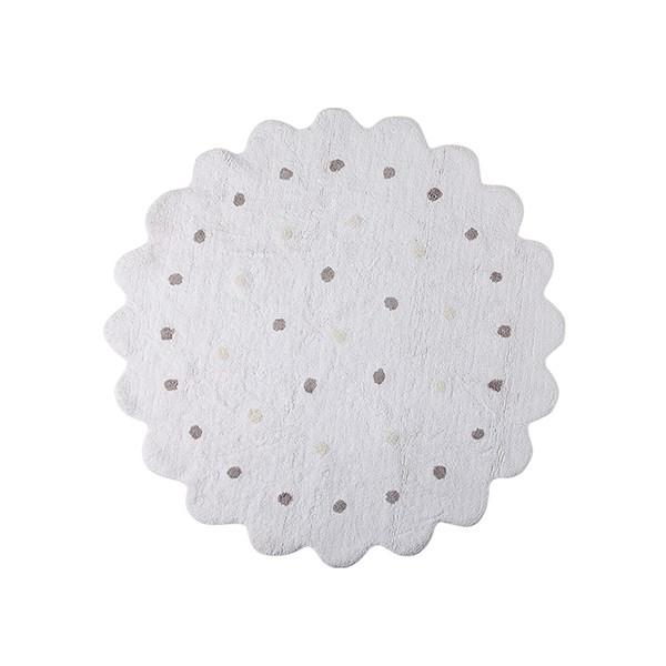 Luxury Handmade White Biscuit Carpet for Kids