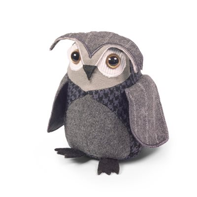 LITTLE OWL JUNIOR Bird Animal Paperweight by Dora Designs