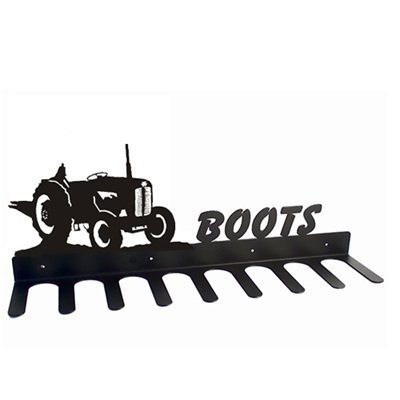 BOOT RACK in Little Red Tractor Design