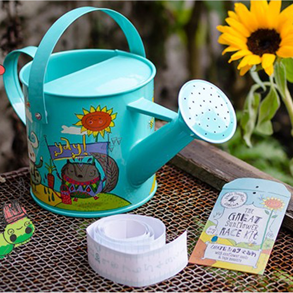 Kids watering can sunflower seed set unique kids gifts cuckoolan - Unusual watering cans ...