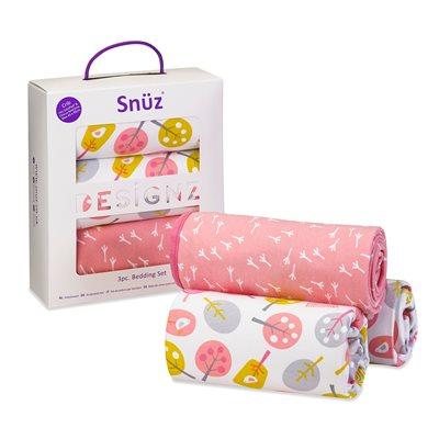 Snuz Crib 3-Piece Baby Bedding Set in Little Tweets