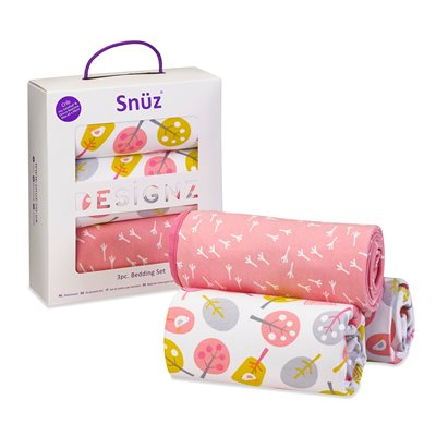 Snuz Crib 3-Piece Baby Bedding Set in Little Tweets