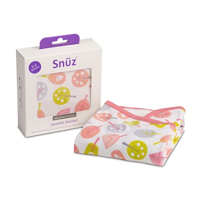 Snuz Swaddle Baby Blanket in Little Tweets
