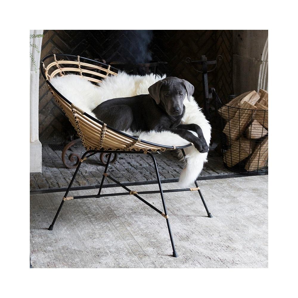 dutchbone kubu rattan round lounge chair dutchbone. Black Bedroom Furniture Sets. Home Design Ideas