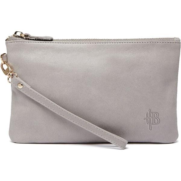 Mighty Purse Designer Clutch Bag in Lizard Grey