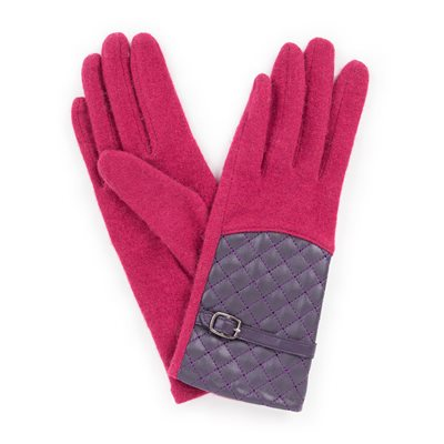 Powder Lizzy Wool Gloves in Raspberry