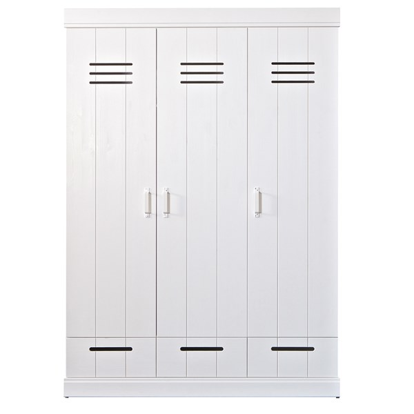 Connect Contemporary 3 Door Locker Style Wardrobe
