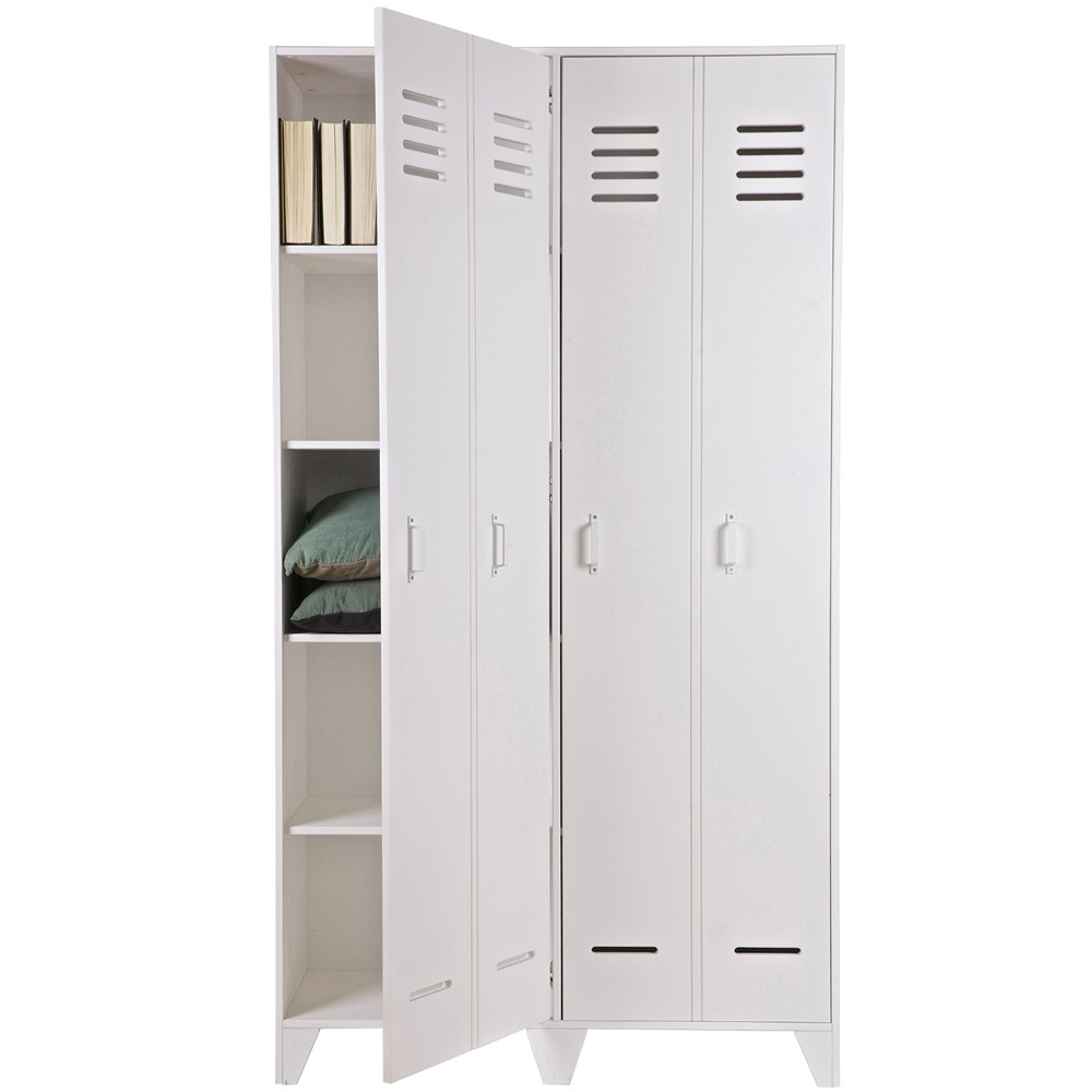 Locker Style Bedroom Furniture Kids Locker Style 2 Door Wardrobe Kids Furniture Cuckooland