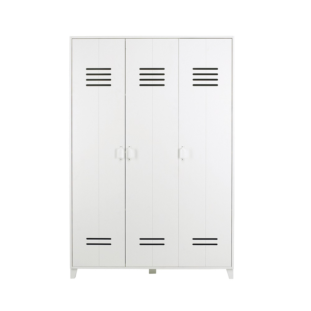 Kids Locker Style 3 Door Wardrobe Kids Furniture